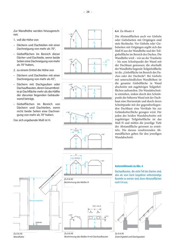 abstandsfl chen nrw nach 6 1 bis 4 baurecht im bild. Black Bedroom Furniture Sets. Home Design Ideas