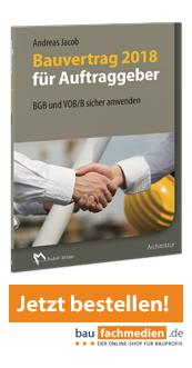 Cover Bauvertrag 2018 für Auftraggeber - BGB und VOB/B sicher anwenden
