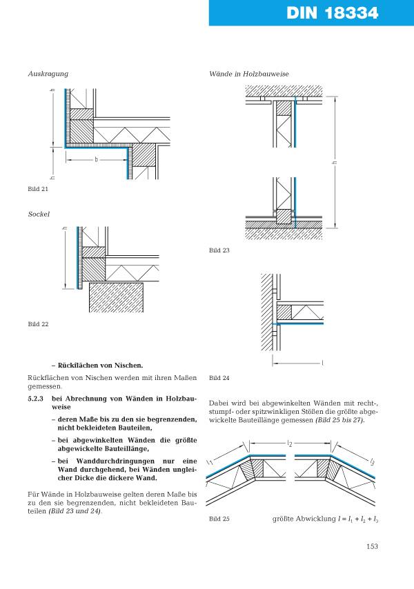 Auszug aus VOB im Bild Hochbau- und Ausbauarbeiten