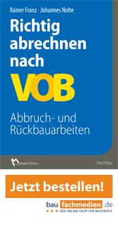 Cover Richtig abrechnen nach VOB Abbruch- und Rückbauarbeiten