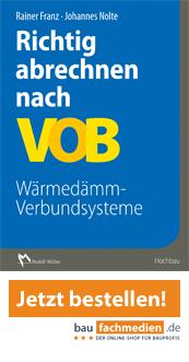 Cover Richtig abrechnen nach VOB Wärmedämm-Verbundsysteme