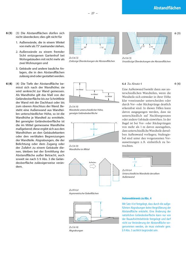 abstandsfl chen nach lbo nrw 6 1 bis 4 baurecht im bild anschaulich leicht. Black Bedroom Furniture Sets. Home Design Ideas