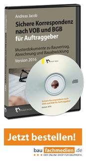 Sichere Korrespondenz VOB/BGB für Auftraggeber